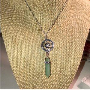 Jewelry - SALE 🌻 Green Aventurine Silver Charm Necklace NEW